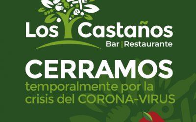 Bar LOS CASTAÑOS, cerramos temporalmente